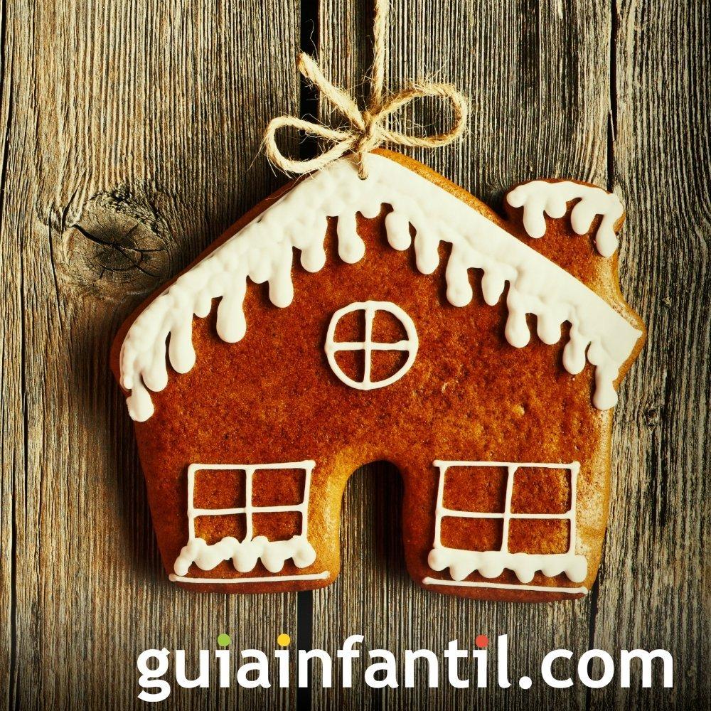 Casita y árboles de Navidad de galleta