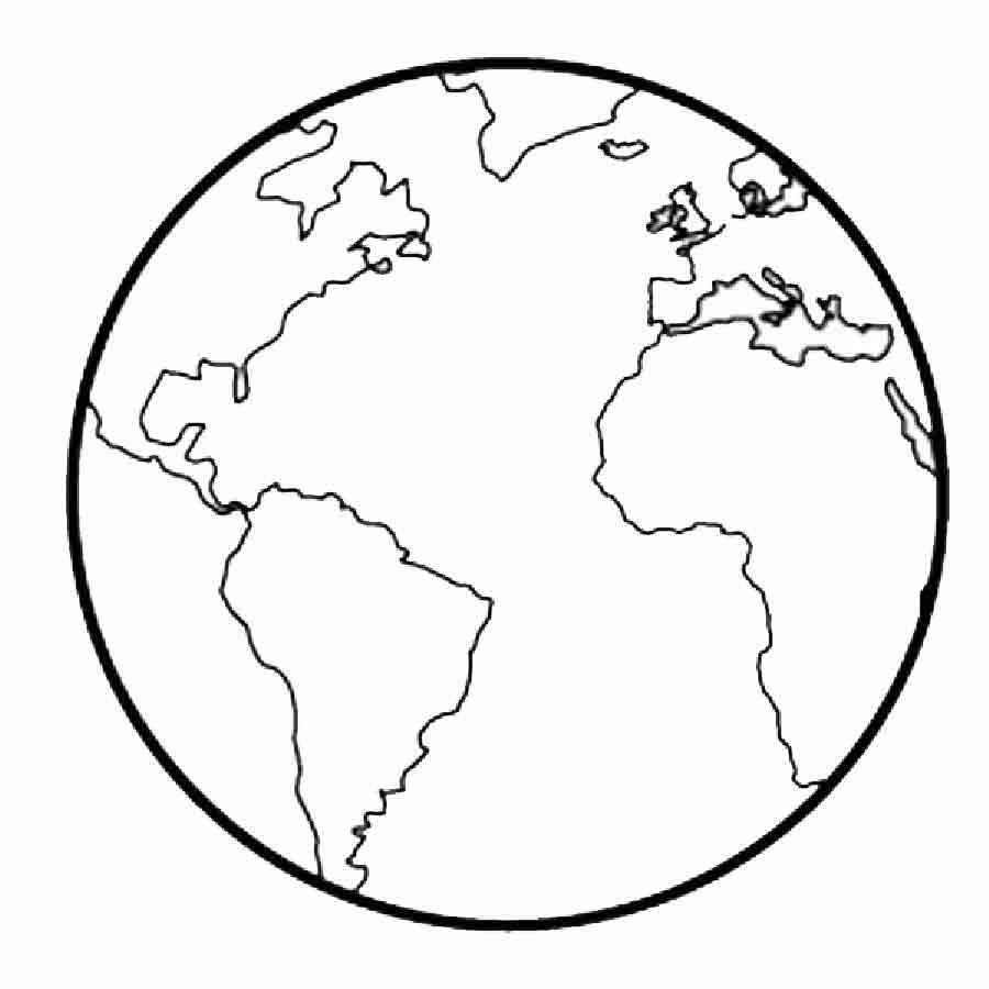 Imprimir dibujo para imprimir y colorear de la tierra - Dibujos infantiles del espacio ...