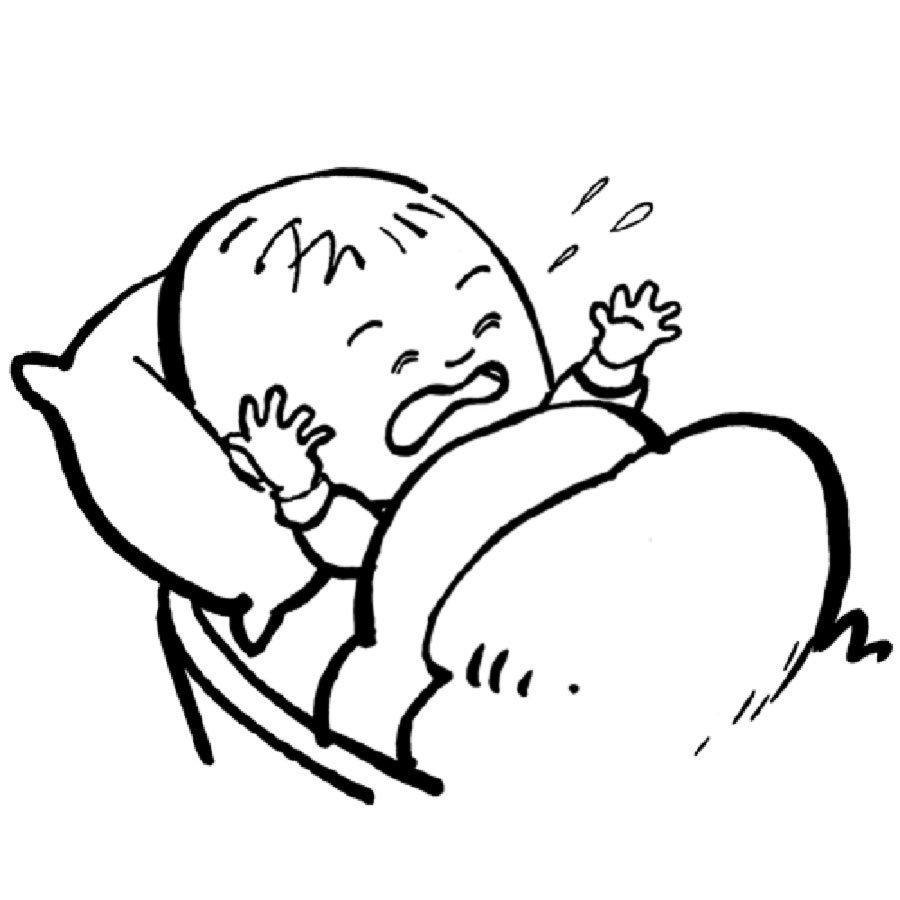 Dibujo De Un Bebé Llorando Para Colorear