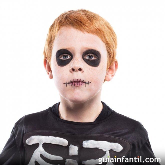 Maquillaje de Calavera o Esqueleto para Halloween