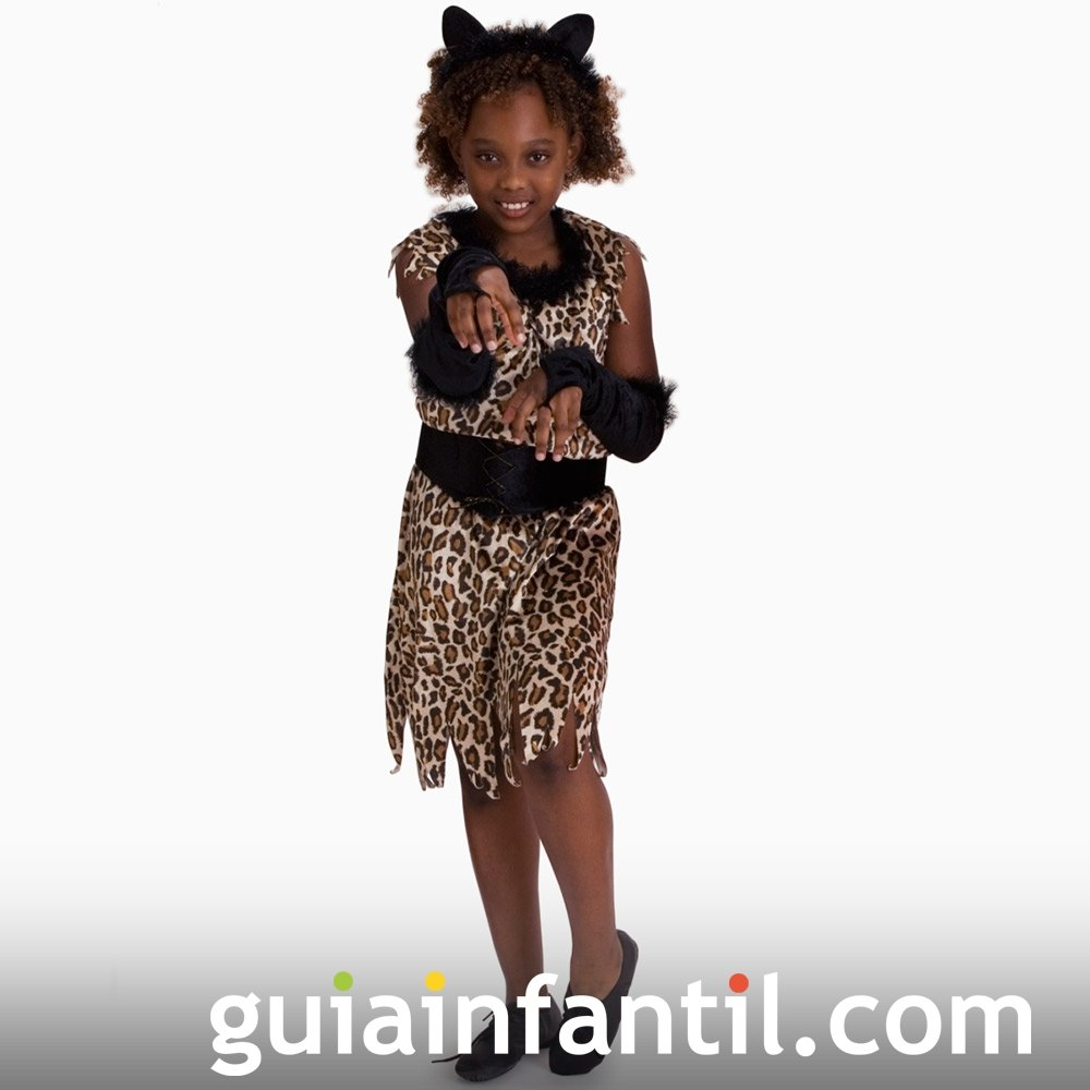 Disfraz de Tigresa para niñas en Halloween