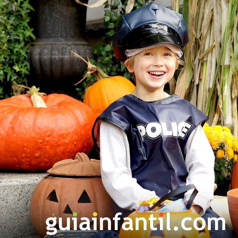 Disfraz de Policía para niños en Halloween