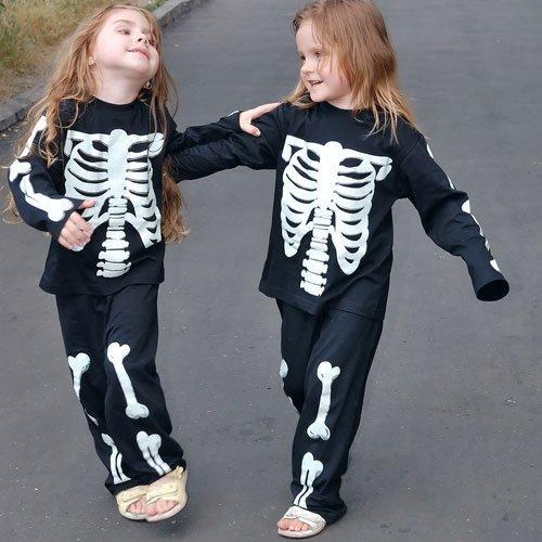 Disfraz de Calaveras para niñas en Halloween