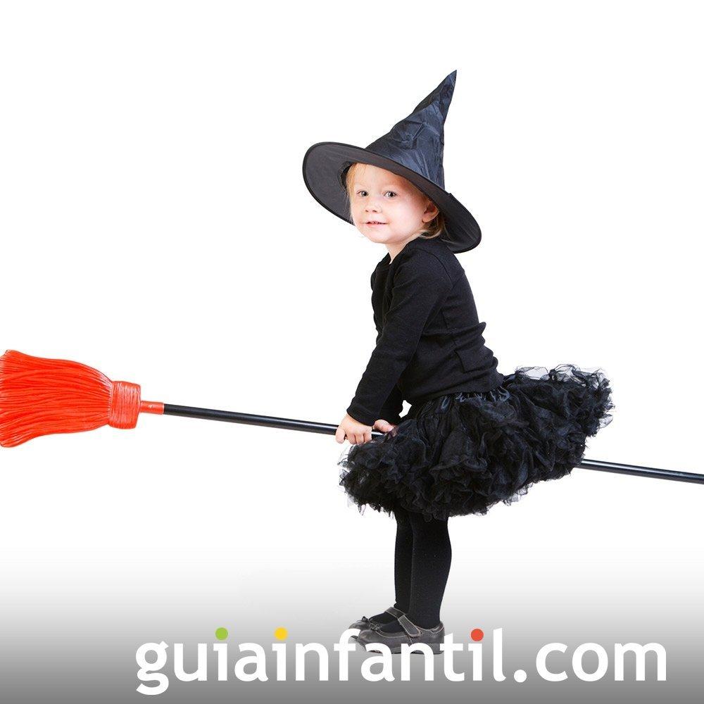 Disfraz de Bruja para bebés en Halloween