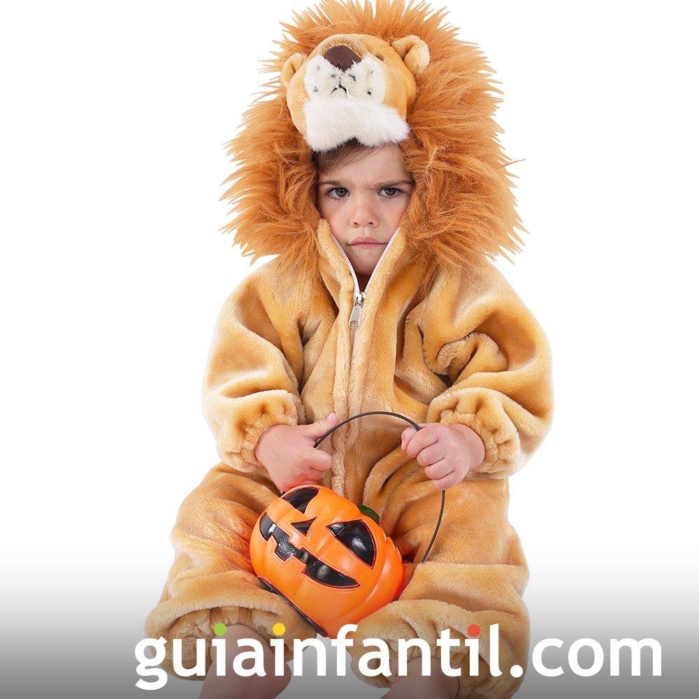 Disfraz de León para el bebé en Halloween