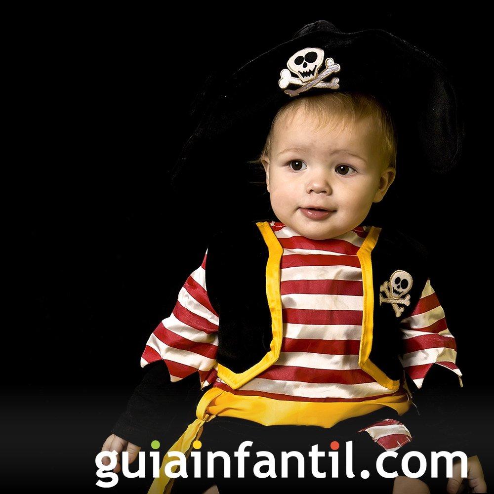Disfraz de Pirata para bebés en Halloween