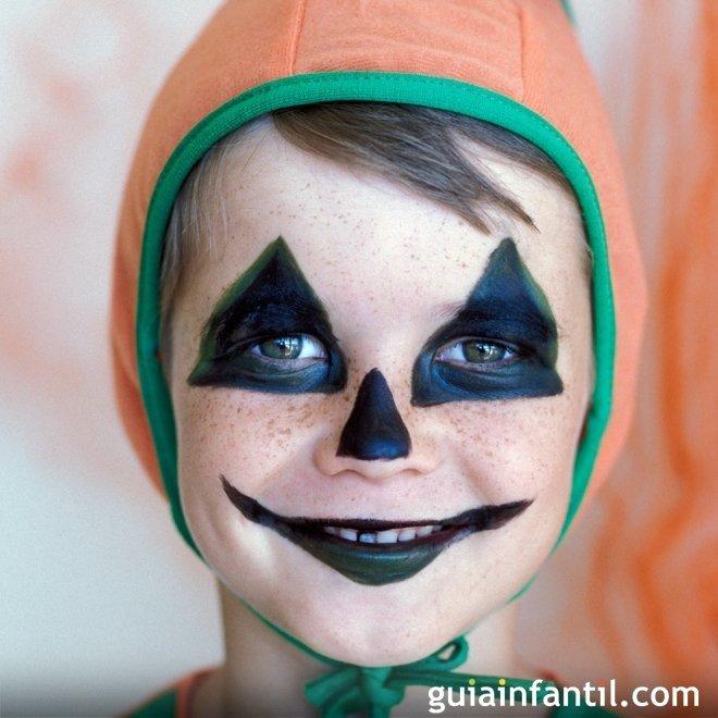 Maquillaje de Calabaza para Halloween