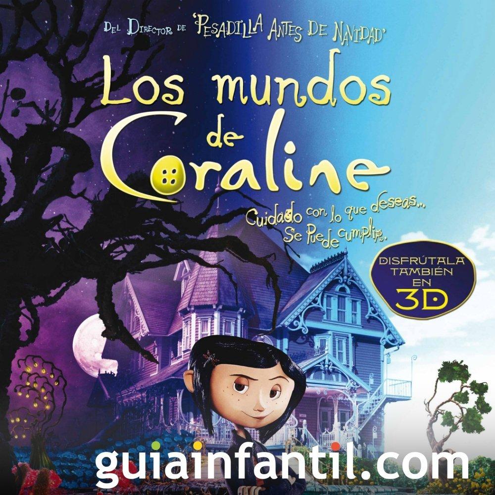 Los mundos de Coraline. Película de miedo para niños
