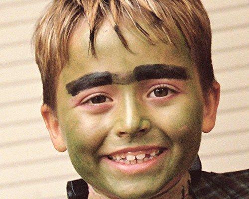 Maquillaje del temible Hulk para Halloween