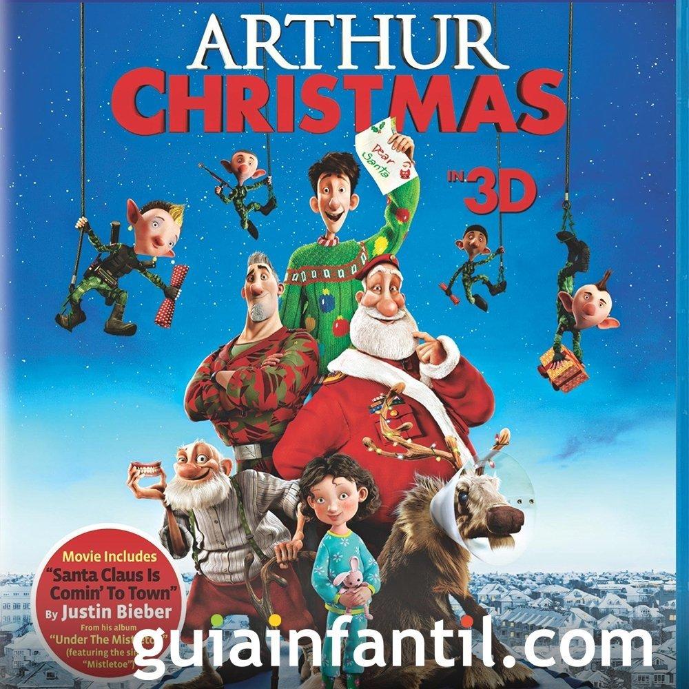 La Navidad de Arthur. Película infantil