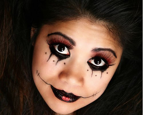 Maquillaje de Noche oscura para Halloween