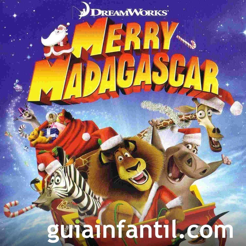 Madagascar en Navidad. Película infantil