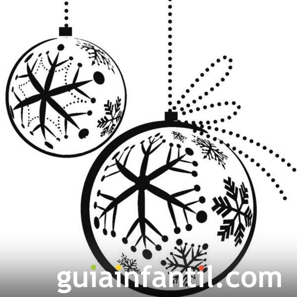 Bola de Navidad con copos de nieve. Dibujos para niños