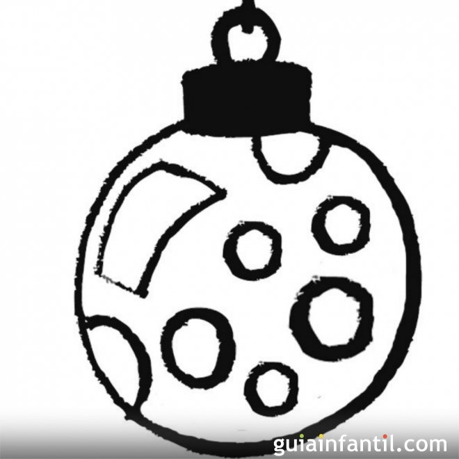 Bola navide a con c rculos para ni os dibujos de navidad - Bolas de navidad para ninos ...