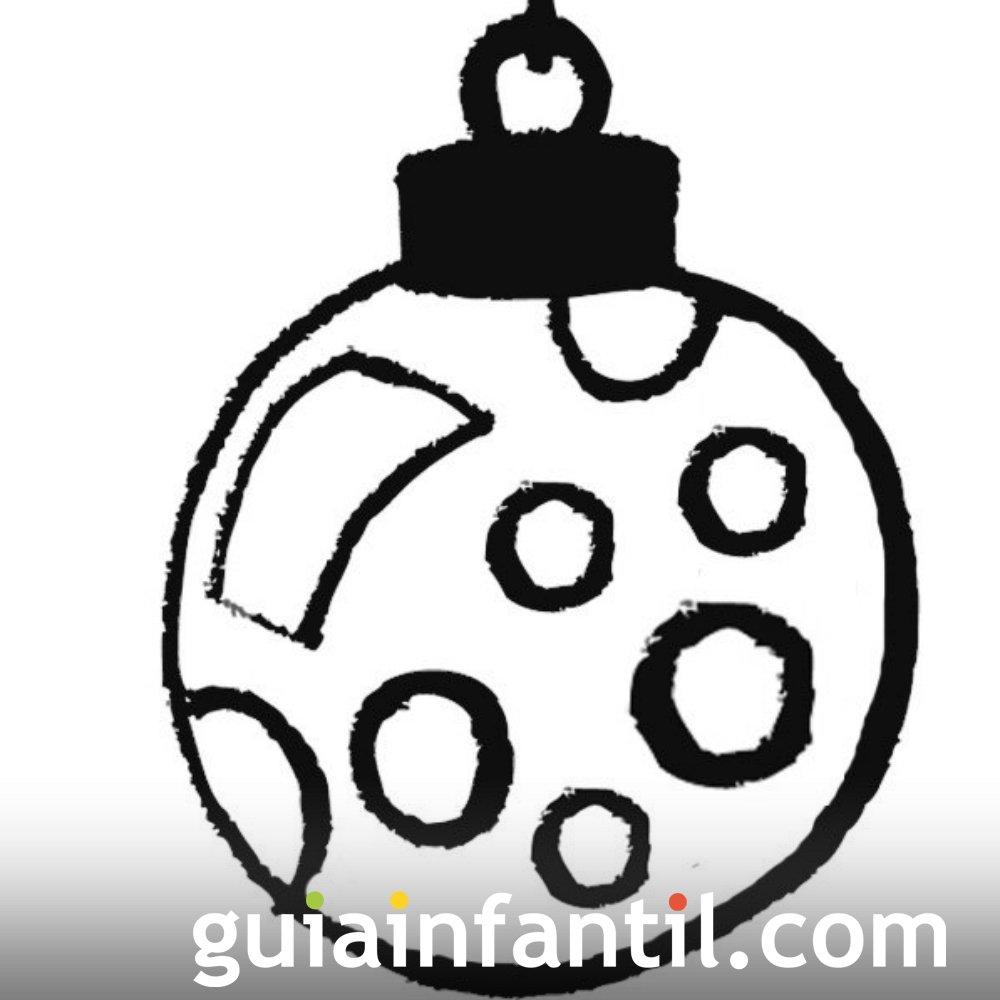 Bola navideña con círculos para niños. Dibujos de Navidad