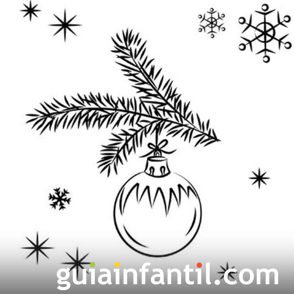 Dibujo de Navidad para niños. Bola navideña