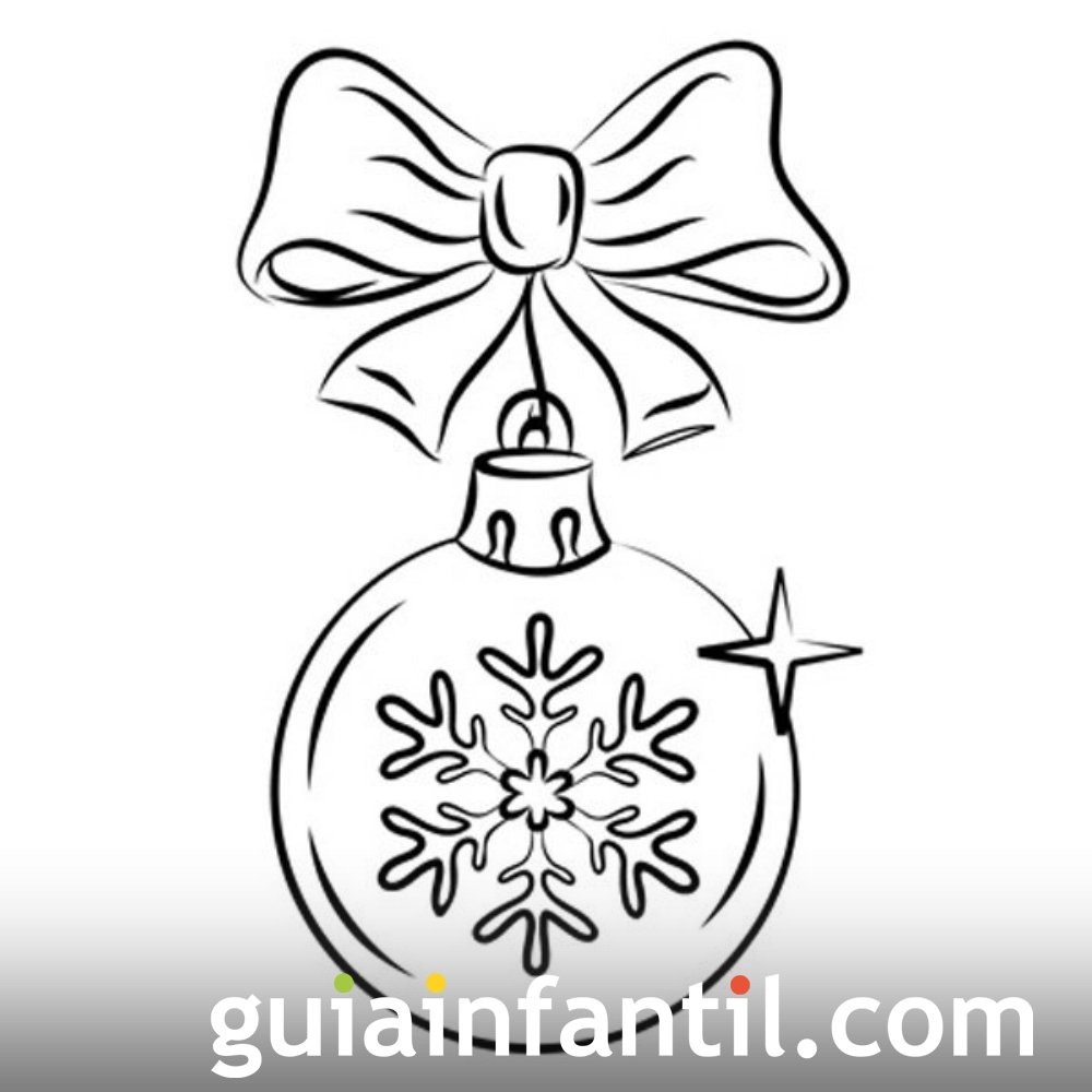 Dibujos navideños. Bola de Navidad para colorear