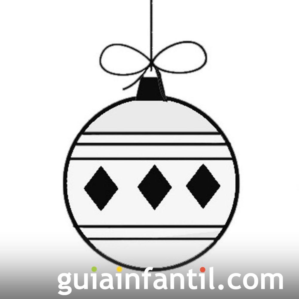 Bola navideña con rombos para niños para colorear