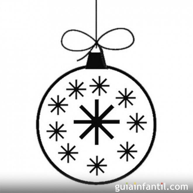 Bola De Navidad Con Estrellas Dibujos Para Colorear