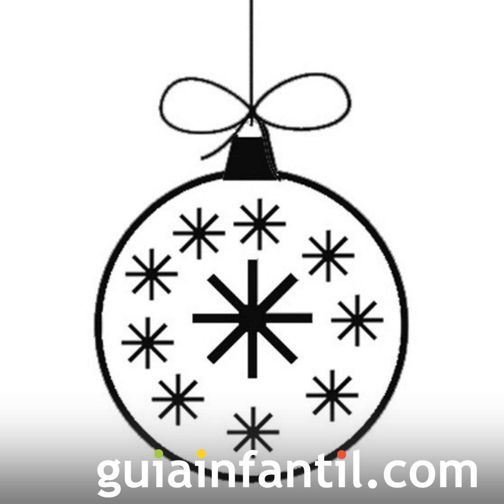 Bola de Navidad con estrellas. Dibujos para colorear