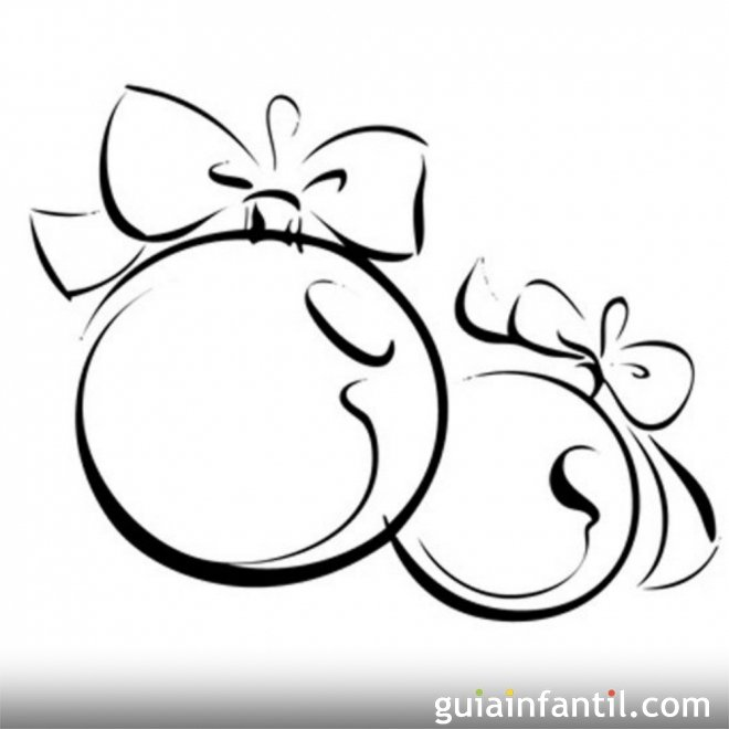 Bola de navidad con lazos para colorear - Lazos para arbol de navidad ...