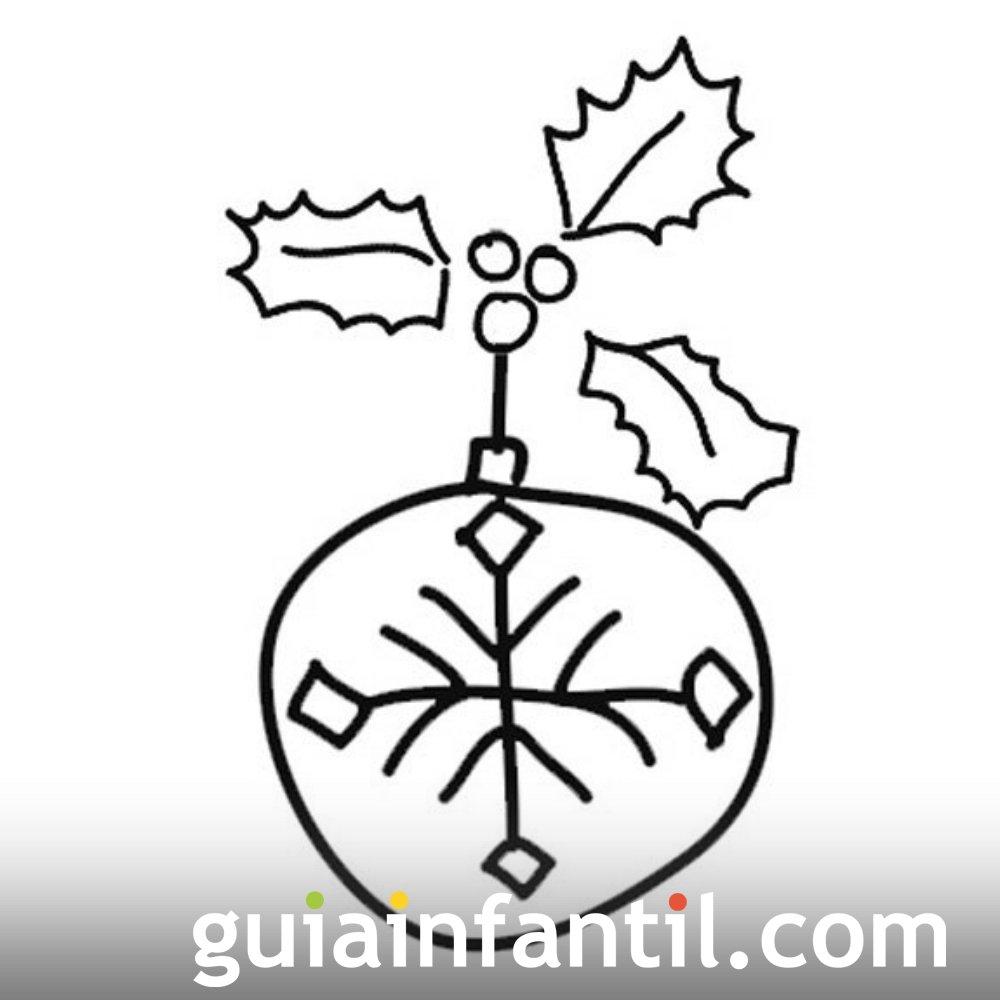 Bola de Navidad con muérdago para niños.