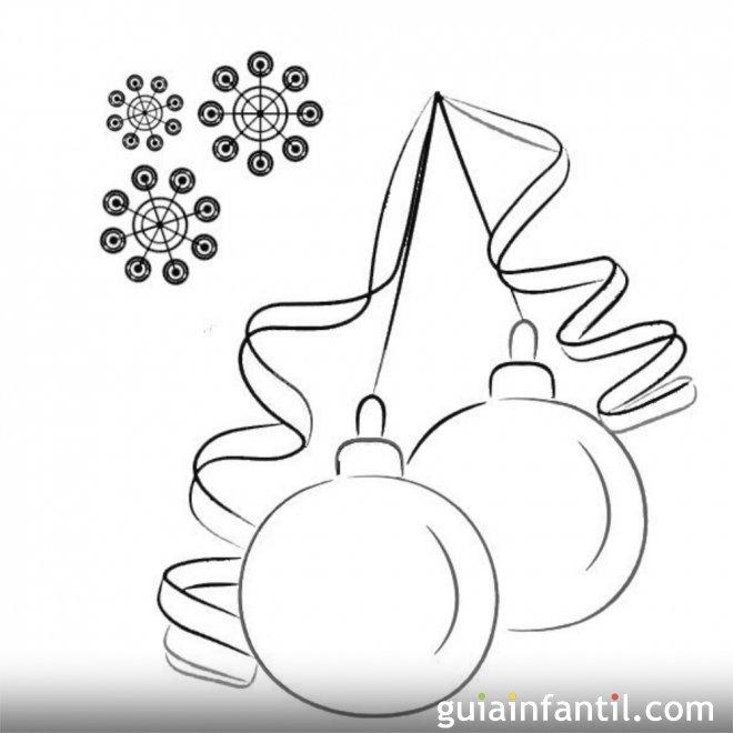 Bolas navideñas para colorear con los niños