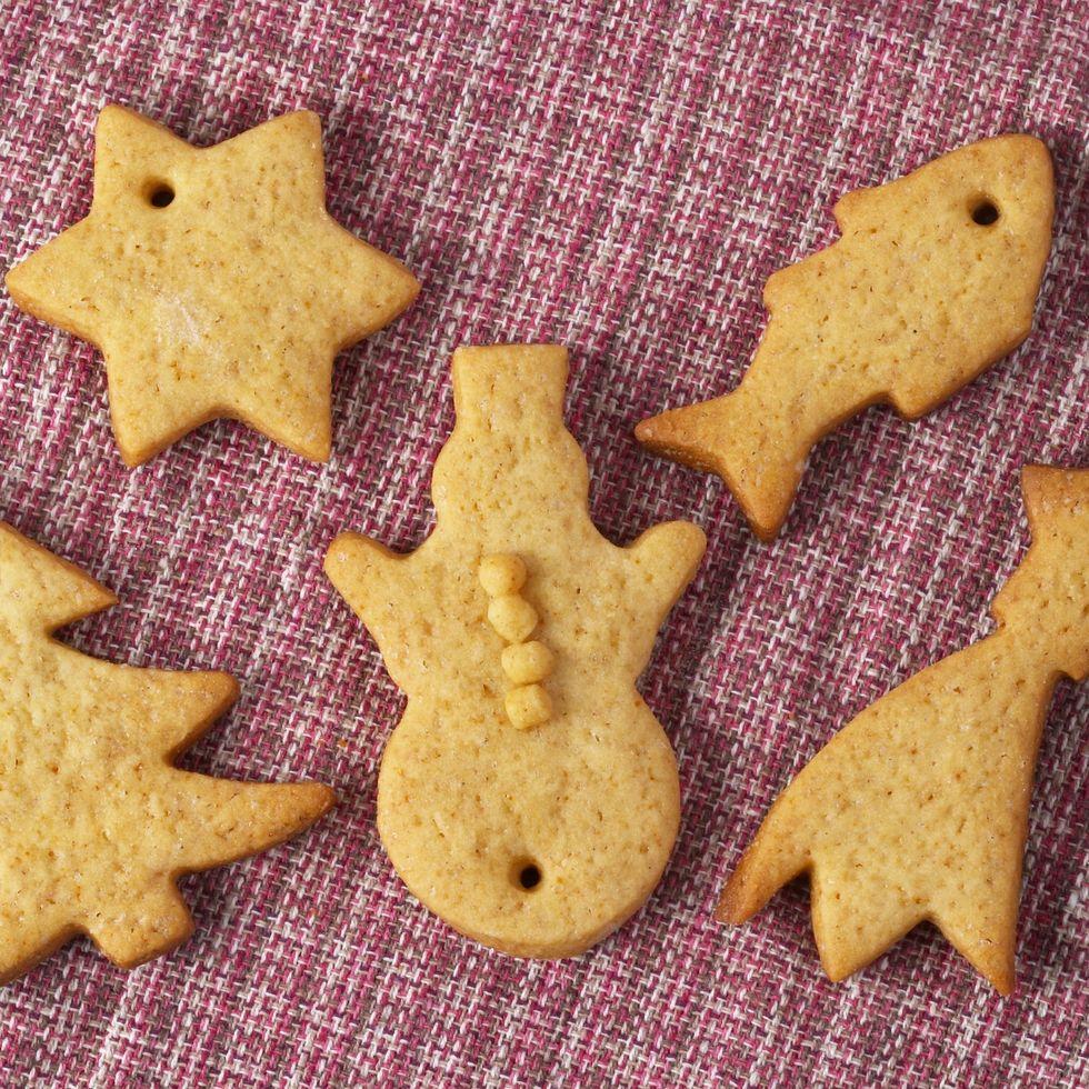 Adornos navideños de galletas de sal