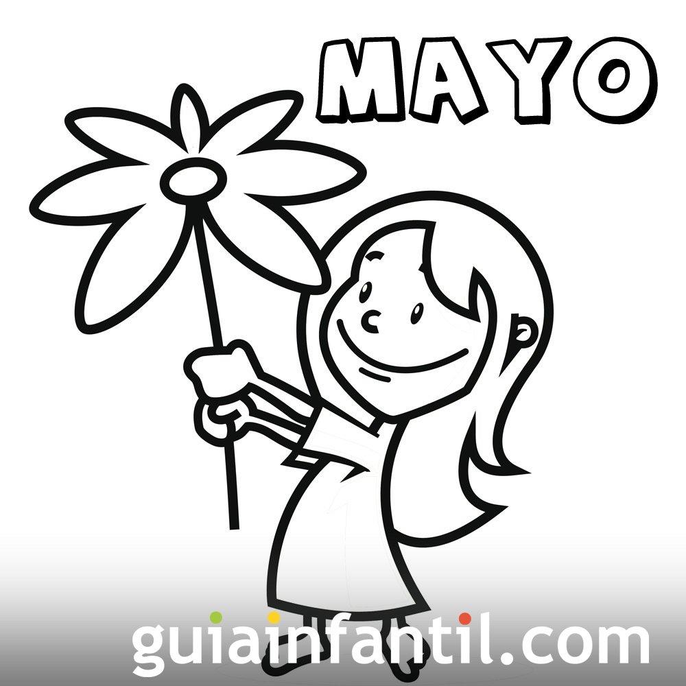 Mes De Mayo De 2016 Para Colorear