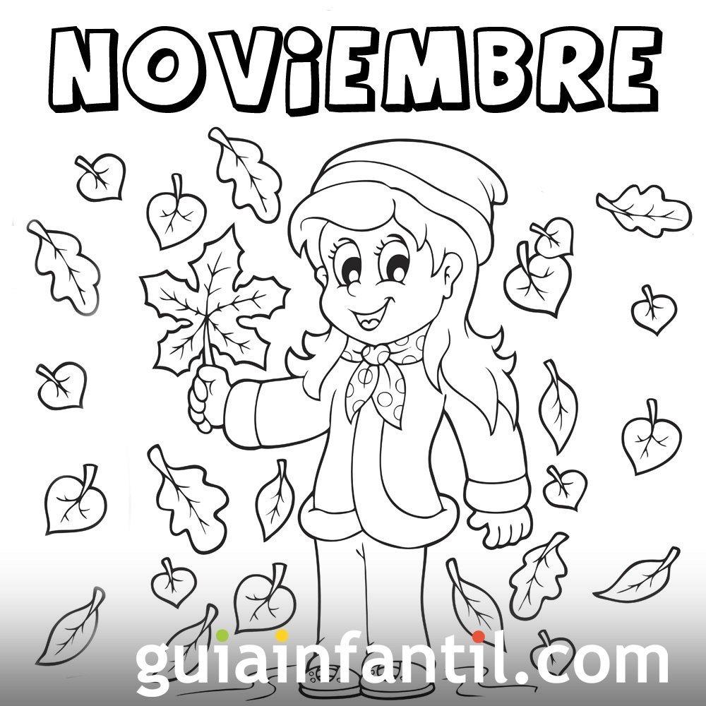 Mes De Noviembre De 2016 Para Colorear