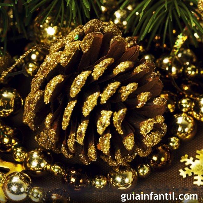 Pi as brillantes de navidad ideas para adornar el rbol - Adornos de navidad con pinas ...