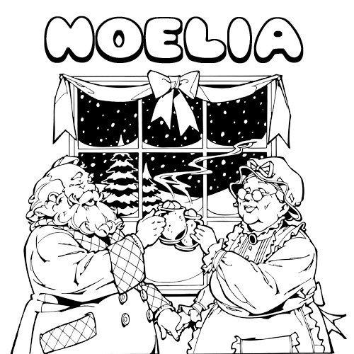 Noelia. Nombres de Navidad para colorear