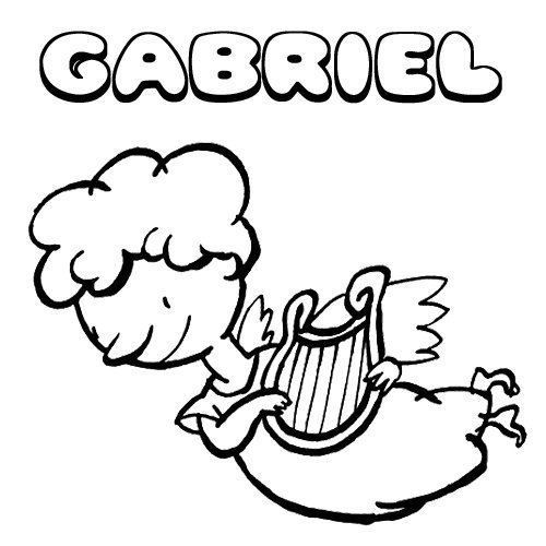 Gabriel. Nombres de Navidad para colorear
