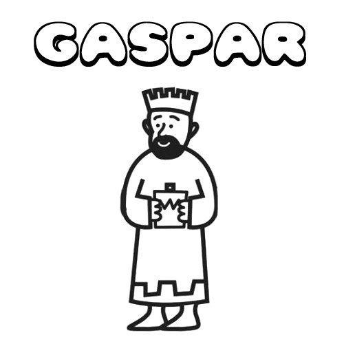 Gaspar. Nombres de Navidad para colorear