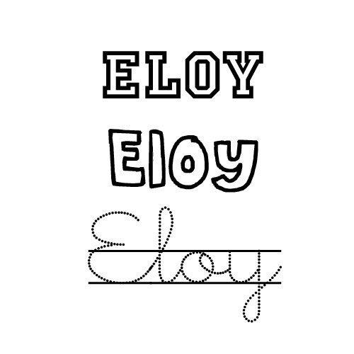 Eloy. Nombres de santo para colorear