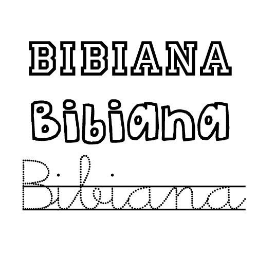Bibiana. Nombre de santo de niña para imprimir