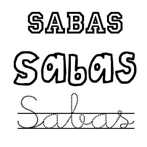 Sabas. Nombre de santo para pintar