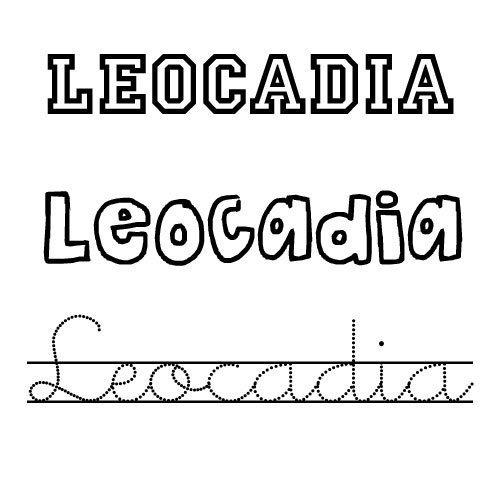 Leocadia. Nombre de santo para colorear