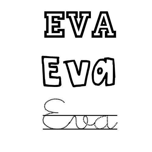 Eva. Nombres de santo para niñas