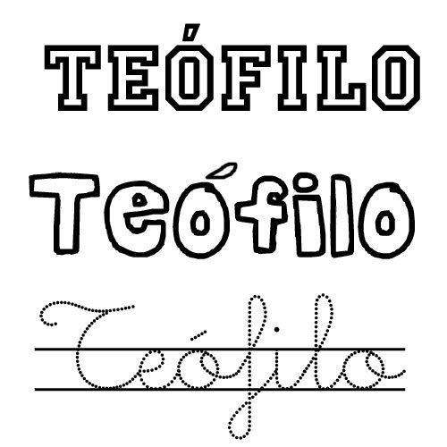 Teófilo. Nombre de santo para niños