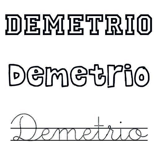 Demetrio. Nombres para bebés de santo