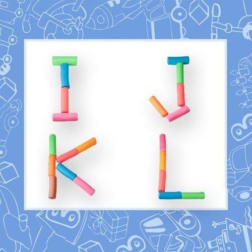 Letras con bloques de plastilina para jugar y aprender