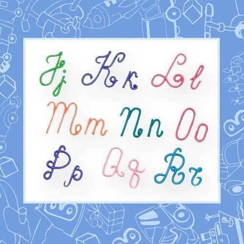 Alfabeto en mayúsculas y minúsculas con plastilina