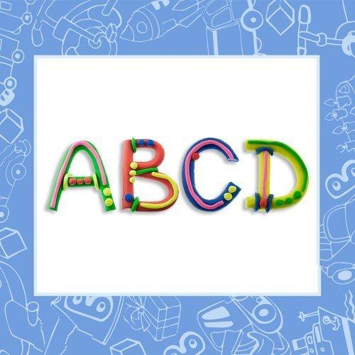 Aprender las letras jugando con plastilina