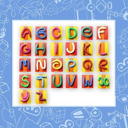 Letras de plastilina de colores para aprender al abecedario