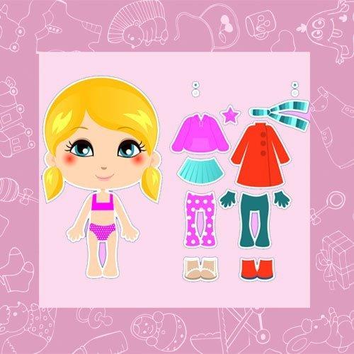 Recortables infantiles de muñecas