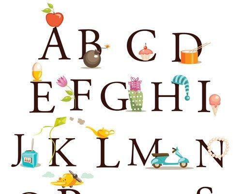 Carteles con letras para la habitación de los niños