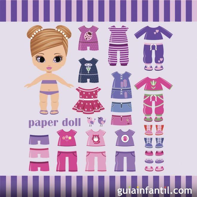 Muñecas recortables infantiles