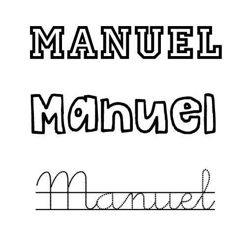 Manuel. Nombre de santo para niño