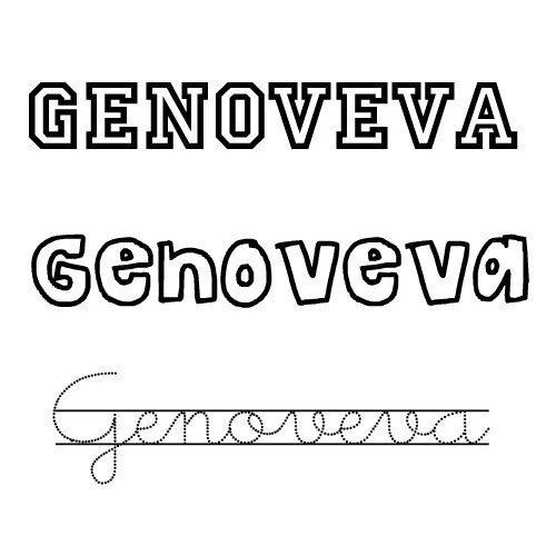 Genoveva. Nombre de santa para niña